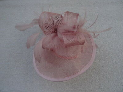 Fascinator Hat Headpiece. Classic Millinery. Pink. Feathers. RRP £49.99.