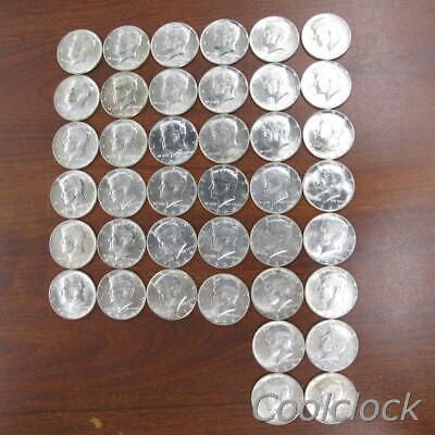 40 Pc Lot Silver Kennedy Half Dollar Coins Used Circulated Ungraded #Q398