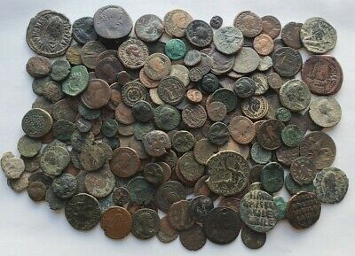 MASSIVE Lot Of 221 Ancient Greek, Roman, Byzantine Coins - Excellent mix!