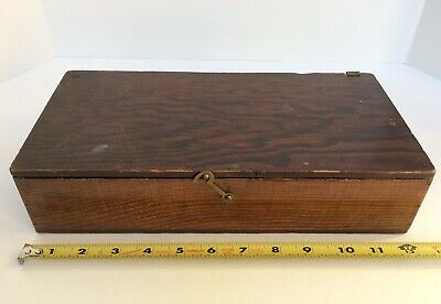 Vintage Cedar? Wood Art Supply Box Brush UNIQUE Sliding No-Hinge Cover