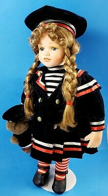 "16"" porcelain american girl doll used in excellent condition"