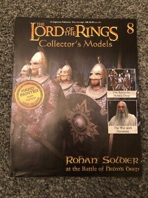 LORD OF THE RINGS COLLECTION ISSUE 8 ROHAN SOLDIER EAGLEMOSS FIGURINE MODEL