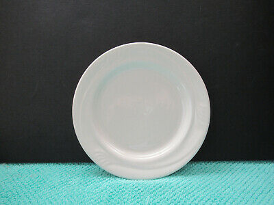 """Oneida Accent/Espree White Embossed Set of 4 (6"""") Bread & Butter Plates Preowned"""