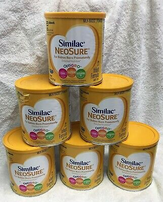 6 PACK Similac Expert Care NeoSure Infant Formula with Iron Powder 13.1 oz Each