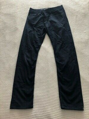 H&M Boys Skinny Fit Black Cord Stretch Jeans 13-14 years