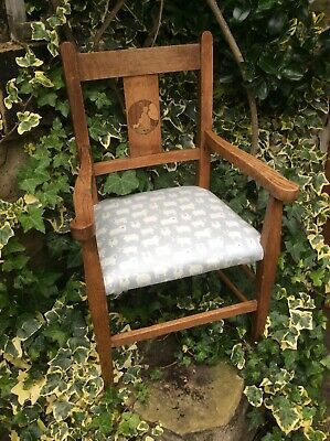 Childs Chair Antique Arts & Crafts Liberty & Co Nursery Rhyme - Upholstered Seat