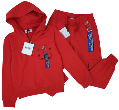NEW MOSCHINO KIDS RRP £229 Boys Tracksuit Top Bottoms Joggers Set 10 YEARS A513
