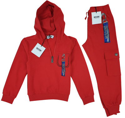 NEW MOSCHINO KIDS RRP £229 Boys Tracksuit Top Bottoms Joggers Set 6 YEARS A514