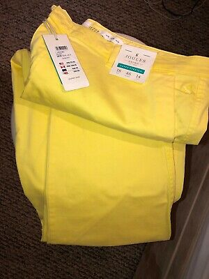 Joules Hesford Chino Trousers  - Size 18 (New) Lemon Yellow RRP £49.95