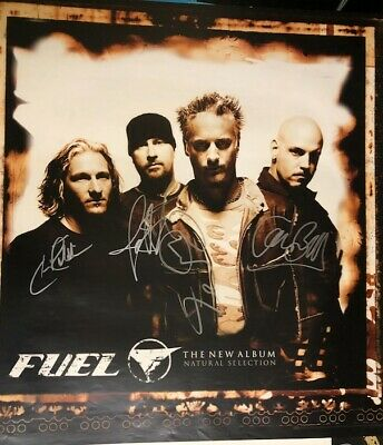 Awesome - FUEL - Autographed Poster - Signed By All Band Members