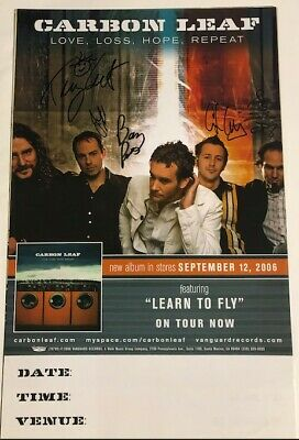 Awesome - CARBON  LEAF - Autographed Poster - Signed By All Band Members