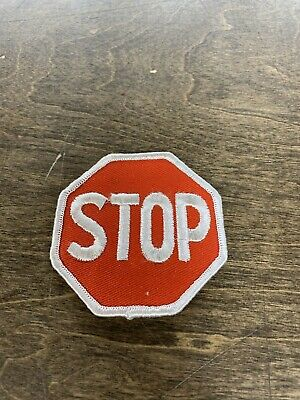 Vintage STOP SIGN Patch