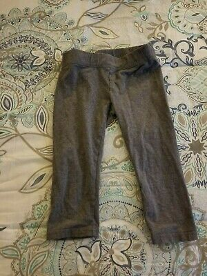 Justice Active Girls Grey Leggings Yoga Fall Winter Spring Size 7