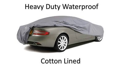 Jaguar Xf Saloon 08-On - Premium Heavy Fully Waterproof Car Cover Cotton Lined