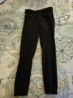 Justice Active Girls Black Leggings Yoga Fall Winter Spring Size 8