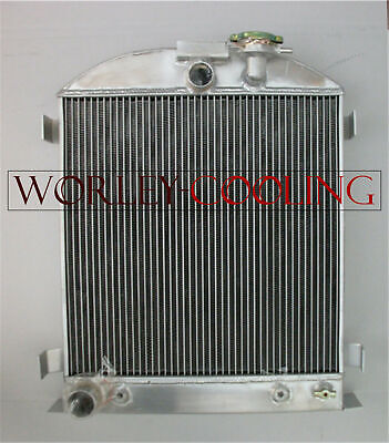 3 Core Aluminum Radiator for Ford Chopped Ford Engine low boy 1932