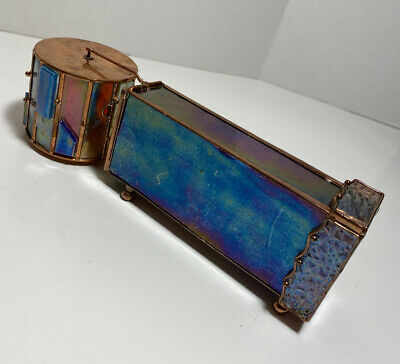 Handmade Stained Glass And Copper Kaleidoscope