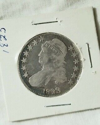 1823 Capped Bust Silver Half Dollar 50c Lettered Edge US Coin - No Reserve