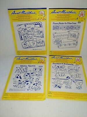 Farm Living Aunt Martha/'s Hot Iron Embroidery Transfers Booklet #404
