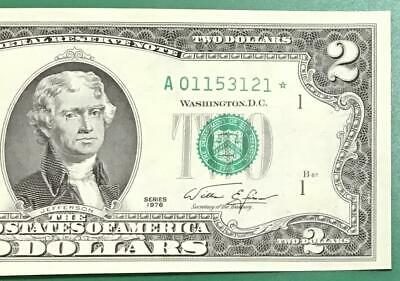 1976 $2 US Boston ** STAR *** x121 Choice Crisp Unc US Paper Money Currency!
