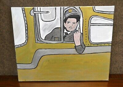Jackie Gleason Honeymooners Painting-Hand Painted-Stretched Canvas-One Of A Kind