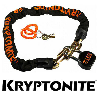 Kryptonite Anti-Theft Security Bike Lock Messenger Chain and Moly Padlock