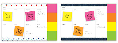 PAPERWORKS Leap Year Avalon Undated 12-Month Weekly Sticky-Note Planner 2020