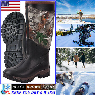 HISEA Men & Women's Arctic Winter Boots Rain Snow Mud Muck Working Hunting Boots