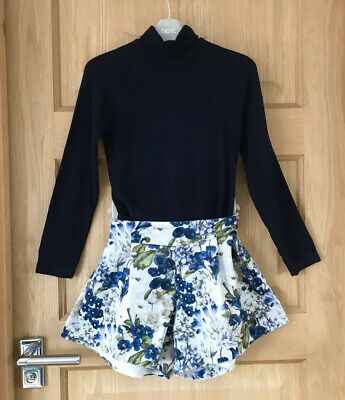 MAYORAL *8y GIRLS SPANISH DESIGNER Stunning Floral SHORTS TOP OUTFIT AGE 8 YEARS