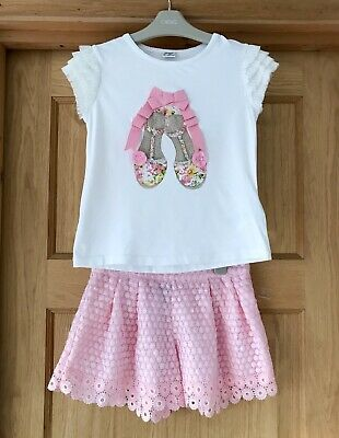 SPANISH DESIGNER OUTFIT MAYORAL *GIRLS Stunning SHORTS TOP OUTFIT AGE 7-8 YEARS