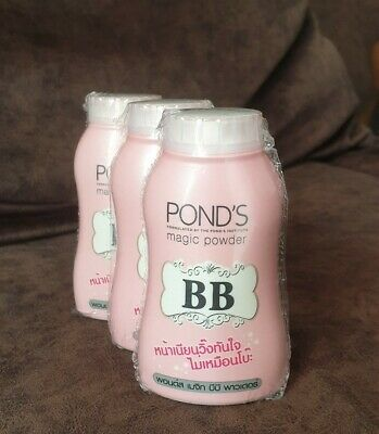 New Pond's BB Magic Facial Powder Pink Double Uv Protection 50g X 3 Packs
