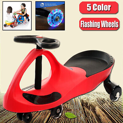 3 Colours Swing Car Swivel Slider Kids Ride On Toys Wiggle Scooter Safe Speed
