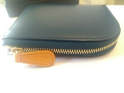 Ettinger Bridle Hide Zipped Curved Wallet With Key Strap