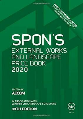 Spons External Works and Landscape Price Book 2020 Spons Price Books