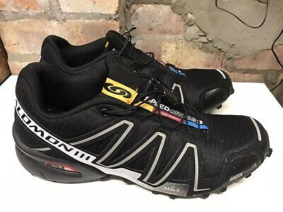Mens Salomon Speedcross 3 Trail Black Running Trainers Shoes 9