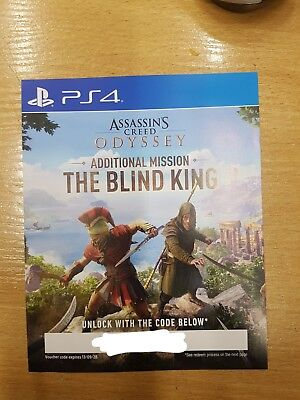 Assassin's Creed Odyssey additional mission The Blind King DLC PS4 code only