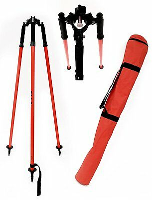 AdirPro Thumb Release Surveying Red Prism Pole Tripod, Total Station,GPS,Topcon