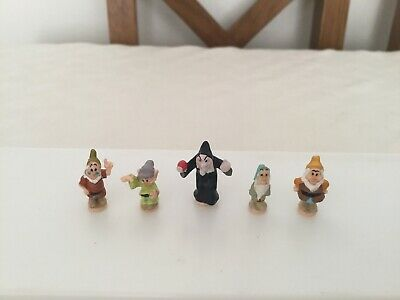 Polly Pocket 1995 Snow White & The Seven Dwarfs. Figures X 5