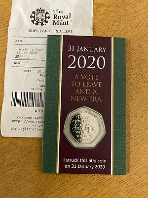 BREXIT  50P STRIKE YOUR OWN COIN 31st JANUARY  2020 WITHDRAWAL FROM THE EU