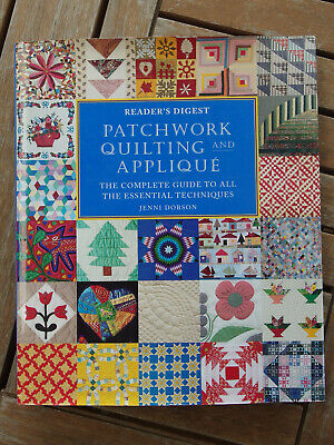 Reader's Digest PATCHWORK QUILTING & APPLIQUE Hardcover Jenni Dobson