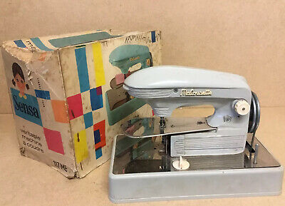 Rare Vintage French Childs Sewing Machine Sensa 117Me Macousetta Original Box