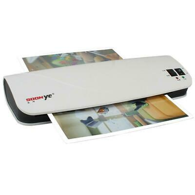 Photo Laminator Machine Laminating Document Paper A4 Hot Cold Thermal Black A9G8