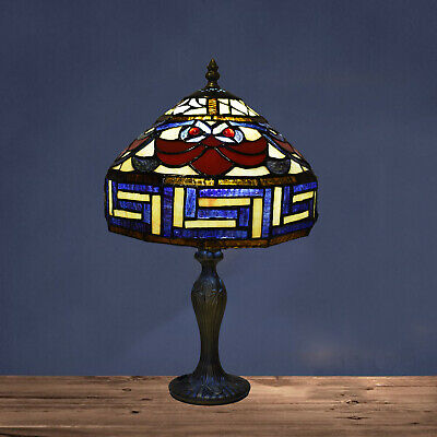 Antique Design Tiffany Style Handcrafted Art Lamp Unique Decorated Shade Light