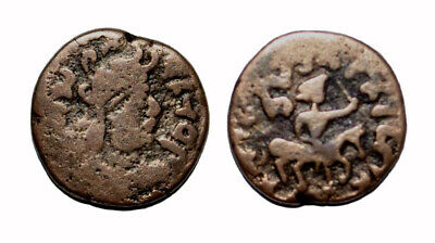 (14748) Ancient Khwarizm AE, The Afrighid dynasty, late 6th C. - AD 995.