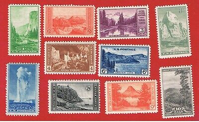 #740-749 MNH OG  National Parks   Free S/H