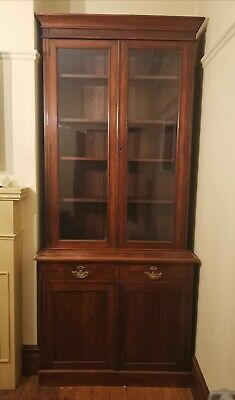 Antique Welsh Dresser Display Cabinet Solid Wood Beautiful Condition Cupboard