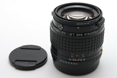 EXC+++++ PENTAX SMC 645 LS 135mm f/4 Lens Shutter, Front & Rear Caps from Japan