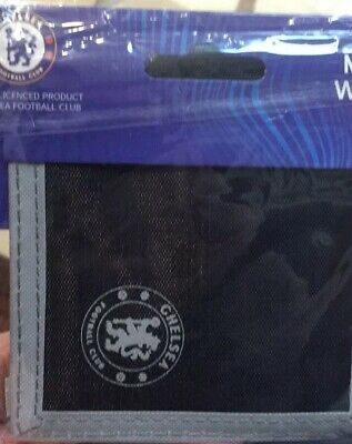 Chelsea FC Wallet Black Canvas Gift Idea Football Club CFC Nylon Money Wallet