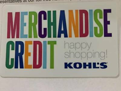 $498.81 Kohl's Gift Card Merchandise no exp. Date FREE FIRST CLASS SHIPPING
