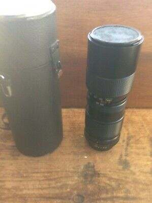 Vivitar 85-205mm F3.8 Auto Zoom Lens with case for Minolta M/ MD Mount